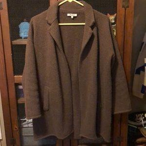 Madewell Wool Blend Taupe Sweatercoat Cardigan